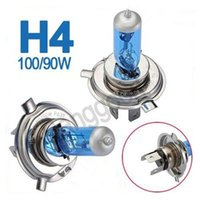 Wholesale Big Promotion X Pure White H4 Halogen Xenon W Car Auto Headlight Headlamp Replacement Lamp Lights Bulb DC12V K