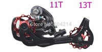 bike cnc - 5 Color CNC Alloy MTB Mountain Bikes Road Bicycles Guide Rear Derailleur T T Roller Idler Pulley bearing Jockey Wheel Parts