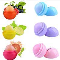 Wholesale 6 Color New Fashion Round Ball Natural Organic Embellish Lip Balm chapstick lip Care