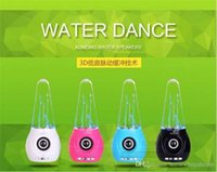 Cheap Water Dance Speaker Colorful Water-drop Show Bluetooth Speaker Mini USB LED Light Music Fountain Light Speaker For Iphone Ipad PC