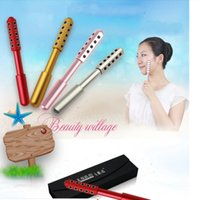 Cheap Germanium Granule Face massager facial Skin Care Massage roller face Beauty roller Stick with 20 piece germanium stones free shipping