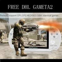 Wholesale 50 FREE DHL Bit Handheld Game Player Mulitmedia inch Video Game Console megal Camera Many Classic Games Portable Game Console