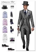 Tuxedos autumn wedding fashion - 2017 High Quality Groom Tuxedos Wedding Suit For Men Mens Fashion Tux Tuxedos Designers Tailored Prom Suits