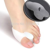 Wholesale 1Pair Silicone Gel Pad Bunion Toe Protector Separator Straighteners Corrector Eases Foot Pain
