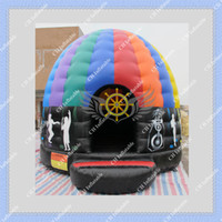 Wholesale Hot Selling Attractive Inflatable Bouncer Inflatable Disco Dome Bounce House for Your Events DHL