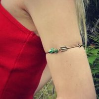 arms of love - Women Fashion Tassel Chain Turquoise Arm Cuff Armlet Armband arrow of love Bracelet M1856