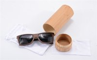 wood eyewear - Retro Wood Sunglasses Eye Sunglasses laser logo round bamboo case Men lentes de sol Eyewear Sports oculos de sol gafas z6009