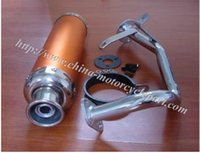 performance scooter exhaust - Chinese Scooter Moped stroke GY6 GY6 QMB Performance Racing Exhaust Muffler system Alloy Golden x300mm