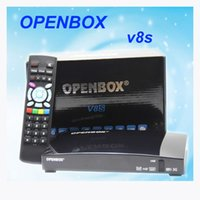 Wholesale Original Openbox V8S satellite receiver V8 support xUSB USB Wifi WEB TV Cccamd Newcamd YouTube Weather Forecast Biss Key
