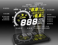 Wholesale 2015 brand new Car HUD Head Up Display quot Size V Working Voltage With EU OBD OBD Interface KM h MPH Speeding Warning