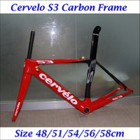 cervelo s3 - 2016 Carbon Road Bike Bicycle Frames Cervelo S3 Red Black Painting Cycling Bike Frameset Seatpost Fork Headset Clamp Including