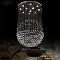 Wholesale 85 v led crystal LAMP creative restaurant bedroom chandeliers personality the messenger wire white warm white