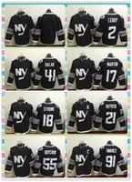 Wholesale New Product Ice Hockey Jersey New York Islanders Leddy Martin Strome Okposo Halak Nielsen Boychuk Butch Goring Black Jerseys