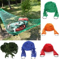 Wholesale New Outdoor Camping Hammock Garden Portable Nylon Hang Mesh Net Sleeping Bed