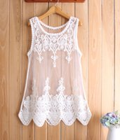 Cheap Big size 2014 Cheap Fashion Elegant chiffon blouse Lace Embroidered Vest Tops shirt blouse blusas de manga blusa renda