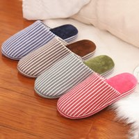 Wholesale 2015 Dongkuan Habitat home skid slippers indoor flooring silent men and women couple models cotton slippers and soft bottom