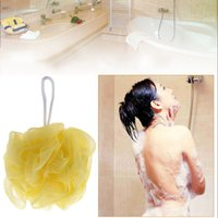 body wash - Bath Shower Body Wash Exfoliate Puff Sponge Scrubbers Mesh Net Bath Ball Compact Comfortable H14528