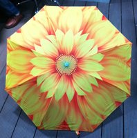 fabric painting - 2015 Hot Oil Painting Umbrella Bennett excellent creative painting Sunflowers Sun Rain Durable Automatic Umbrella