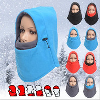 Wholesale LJJG251 Fleece Cycling Wind Mask Multi function Thermal Fleece Balaclava Full Face Masks Outdoor Sports Ski Protection Hood Headgear
