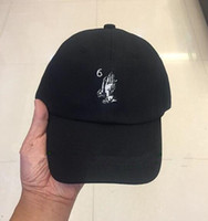 custom hats - Drake Six God God CAP exclusive custom black white baseball cap golf cap bent brimmed hat casquette outdoor snapback hats sun caps
