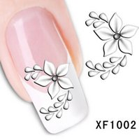 beauty lily - White pond lily Art Nail Sticker Decal Gel Beauty winner wedding party sexy water drop dewdrop celebration F1002