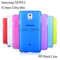 mobile phone crystal hard case - For Samsung Note3 n900 Mobile phone Case High Quality Ultrathin crystal Clear PP case Note3 Slim Hard case Good Price