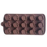 apple cake pan - Karen Baking Apple Type Muffin Sweet Candy Jelly Fondant Cake Chocolate Mold Silicone Tool Baking Pan B188