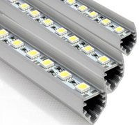 Wholesale 10pcs SMD5050 led bar lights DC V LEDs M cm LED Hard Strip Bar Car Light with V shaped Aluminium alloy shell