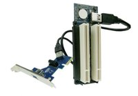 Wholesale PCI express x1 PCIe TO PCI Adapter Router Dual PCI slot Riser Card Get Tow PCI