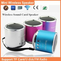 Wholesale Factory Promotion price Hot sales Portable Mini Speaker Computer Amplifier FM Radio USB Micro SD TF Card MP3 music Player DHL