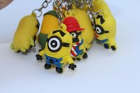Cheap Despicable Me 2 Despicable Me pendant key ring gift Kenchain doll decoration silicone minion key chain