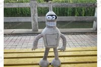 bender futurama - Futurama Bender cm Anime Gray Toy Cosplay Plush Doll