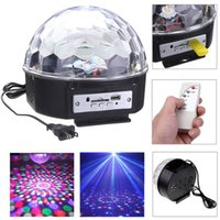 Wholesale New RGB MP3 Magic Crystal Ball LED Music stage light Home Party disco DJ party Stage Lights with USB Disk Remote Control
