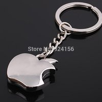 Wholesale 5pcs Novelty Souvenir Metal Apple Key Chain Creative Gifts Apple Keychain Key Ring Trinket