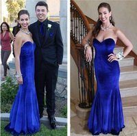 Reference Images black velvet dress - 2014 Simple Vintage Evening Dresses Sweet heart Mermaid Royal Blue Velvet Formal Gowns Special Occasion Vestido De Noiva Long Prom Dress