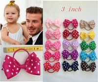 alice hair bands - 10 OFF INCH MINI GROSGRAIN RIBBON Alice Band Boutique DOT BOW WITH ELASTIC HAIR BAND Hair accessories