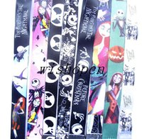 Wholesale Popular Nightmare Before Christmas Lanyards Keychain ID Badge Holder Mobile Phone Neck Straps N25