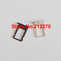 Wholesale Original New Sim Card Tray Slot Holder Replacement Parts For iPhone Black White