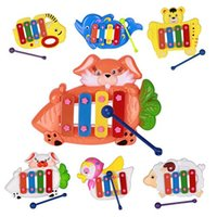Wholesale Musical Educational Animal Developmental Music Bell Toy Tones for Kids Baby
