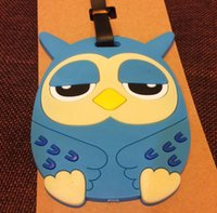 Wholesale NEW Hot fashion Cartoon movie LUGGAGE TAG lovely D Cartoon Owl style Travel bag tag bag tag Toys best gifts cc103
