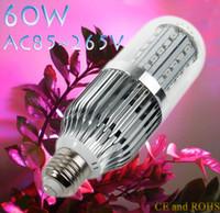aluminum flower lamp - Aluminum W Led Grow Light AC85 V E27 Red Bule For Flowering Plant and Hydroponics System Grow Corn Light Lamp