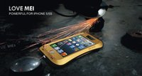 al por mayor amor caso iphone5-Caso original de Mei del amor del 100% para iphone5 5 / 5s / 5C Caja impermeable de Dropproof para iphone5 5 / 5s / 5C Caja a prueba de choques del metal para iphone5 5 / 5s / 5C