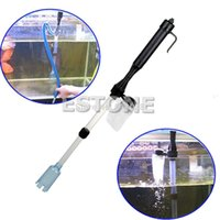Wholesale C18 Aquarium Battery Syphon Auto Fish Tank Vacuum Gravel Water Filter Cleaner Washer