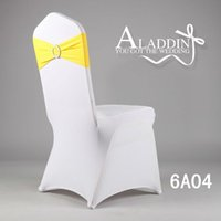 Wholesale High quality wedding Spandex chair band with buckle lycra spandex sash Lycra chair band with buckle chair sash for chair cover