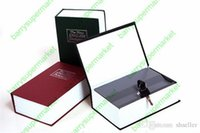 Wholesale 11 cm Creative gift English dictionary Tibet Gold Box Book Dictionary Safe Small piggy bank styles with key Safe A5