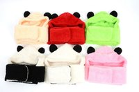 Wholesale Fashion New Style Christmas gift for Y Autumn winter Cute panda Pattern kid s Scarf Hat Glove Sets