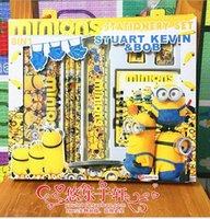 Wholesale LJJD3822 sets Despicable Me Minions Stationery set Students prize Frozen Princess Hello KT Stationersy Cartoon kids stationery set