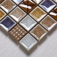 Wholesale Jasmine ceramic kiln Binglie mosaic backdrop wall stickers living room entrance neoclassical tile puzzle