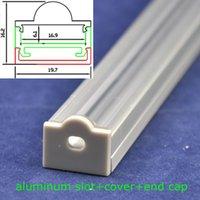 aluminum flat bars - Transparent Waterproof Cover M Long MM Wide Flat Shape Rigid Strip LED Bar Light Aluminum Profile With End Caps