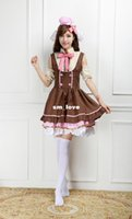 Wholesale Cosplay Love Live Love Live dress Candy Maid Cos Vector Zeni Lolita Princess J208